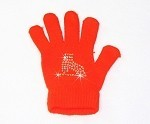 Neon Orange Skating Gloves with