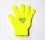 Neon Yellow Skating Gloves with