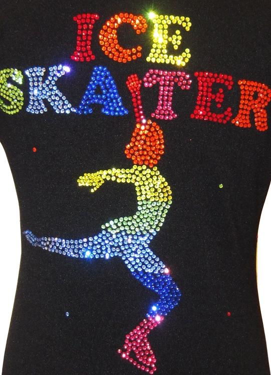 Ice Skating Jacket With Rainbow Ice Skater Design
