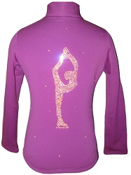Purple Figure skating jacket with