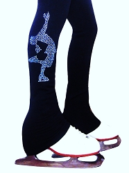 Polartec  Ice Skating Pants with blue crystals
