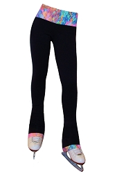 Venetta Fit Polartec Figure Skating Pants - Neon Lights