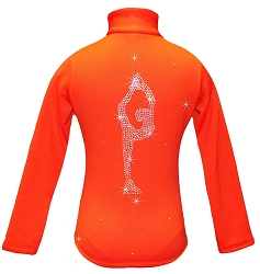 Orange ice Skating Jacket with