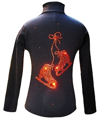 Black Ice Skating Jacket with Orange