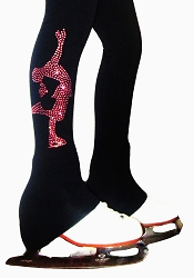 Figure Skating Pants with pink crystals