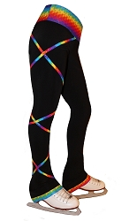 Criss Cross Poly/Spandex Spectrum Gold  Ice Skating Pants XP343