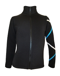 Criss Cross Fleece Ice Skating Jacket  Silver/Turquoise XJ411