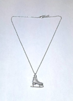 "Silver plated necklace with ""Ice Skate""  charm"