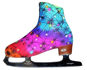 """Rainbow "" ice skating boot covers"