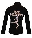 Ice Skating Jacket with AB Crystals Ice Skater Design