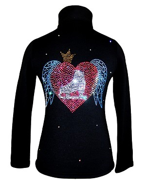 Figure Skating Jacket by Ice Fire - Skate and Wings applique HJ232