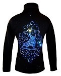 Black Jacket with blue crystals