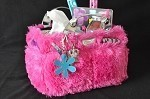"Kiss & Cry Rink Tote ""Fluffy"" - Fuchsia"