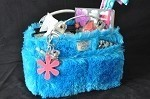 "Kiss & Cry Rink Tote ""Fluffy"" - Turquoise"