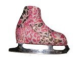 "Holographic ice skating boot covers ""Leopard"""