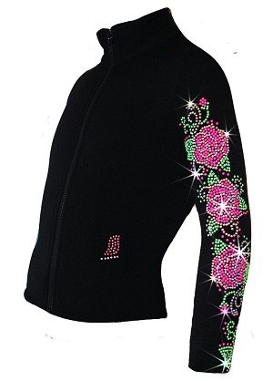 "Ice Skating Jacket with ""Roses Swirls"" Design"
