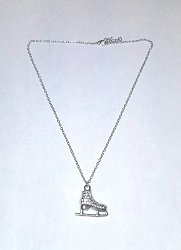Silver plated necklace with