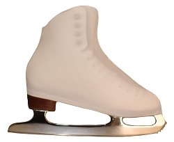 Matte White  ice skating boot covers