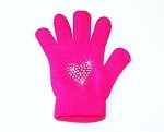 Neon Pink Skating Gloves with