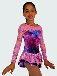 Velvet Ice Skating Dress Pink/Purple