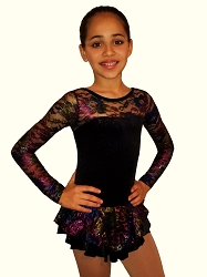 Velvet Ice Skating Dress Black