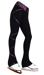 Criss Cross Poly/Spandex Stardust Sparkle Ice Skating Pants XP230