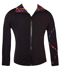 Criss Cross Poly/Spandex Stardust Sparkle Ice Skating Jacket