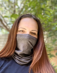 Protective Face Cover Neck Gaiter/Bandana (Gray)