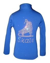 Blue figure skating jacket with