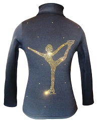 Ice Skating Jacket with Gold rhinestones