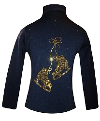 Figure Skating Jacket with Gold  Rhinestones