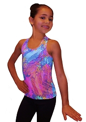 Ice Skating Tank Top - Neon Lights