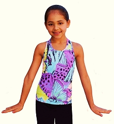 Ice Skating Tank Top - Butterfly Fusion