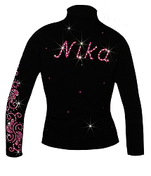 Personalized Ice skating jacket with pink