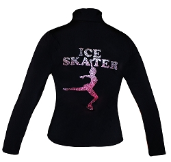 Closeout Poly/Spandex Ice skating jacket with Pink Ombre
