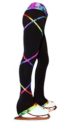 Criss Cross Poly/Spandex Rainbow Ice Skating Pants XP120